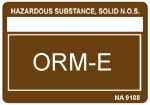 Other Regulated Material ORM-E