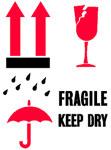 Packing International Fragile Keep Dry