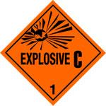 Warning Explosive 1.3C