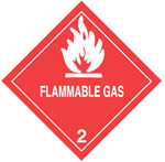 Warning Flammable Gas