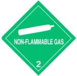 Warning Non-Flammable Gas