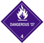 Warning Dangerous When Wet