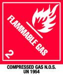 Warning Flammable Gas