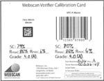 Webscan Calibration Cards