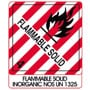 Warning Flammable Solid with Note Label