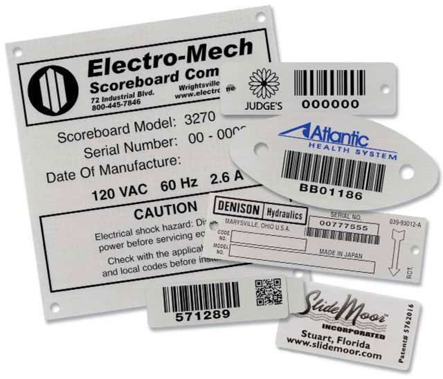 AirTrack Metal Barcode Nameplates Label: XPA029-BT