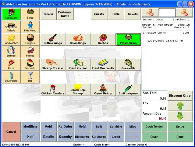 Aldelo for restaurants pro edition pos software best for Restaurant planning software
