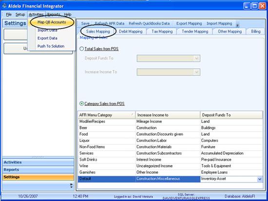 Aldelo Financial Integrator POS Software