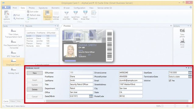 AlphaCard ID Suite Light ID Card Software