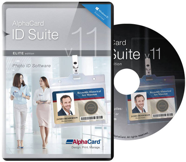 AlphaCard ID Suite Elite ID Card Software