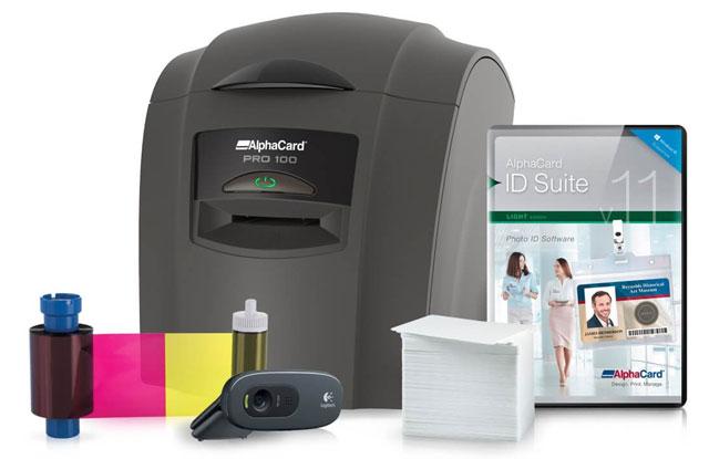 AlphaCard Pro 100 ID Card Printer System: ACP-PRO100-BBB