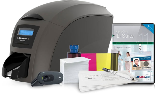 AlphaCard Pro 500 ID Card Printer System: ACP-PRO500-DUO-L11