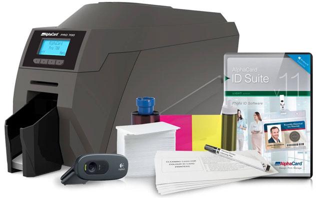 AlphaCard Pro 700 ID Card Printer System: ACP-PRO700-DUO-L11