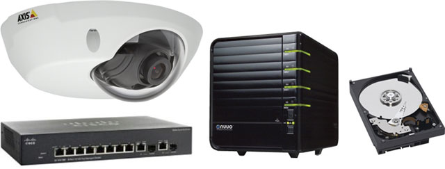 Axis IP Video Security Bundle Surveillance Camera System