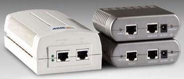 Axis Power Over Ethernet Midspan and Splitters