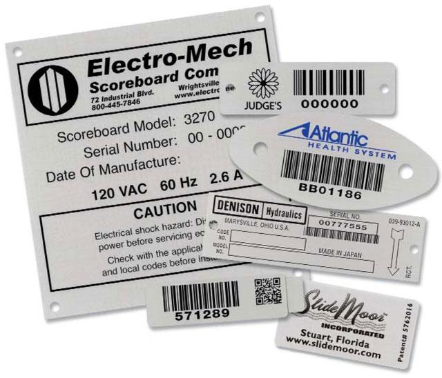 BCI Metal Bar Code Nameplates
