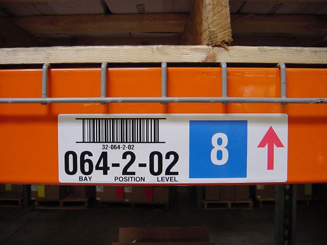 BCI Warehouse Racking Labels