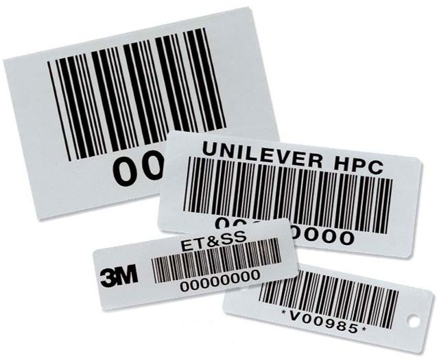 BCI Teflon Coated Metal Bar Code Nameplates