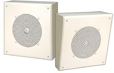 Bogen Self-Amplified Metal Box Speakers