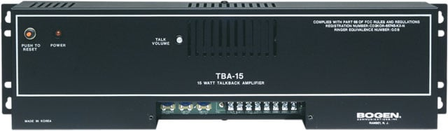 Bogen TBA15 Amplifier