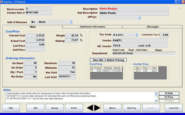 CAP Software SellWise POS Software