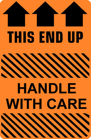 Caution Handle With Care This End Up Label Best Price
