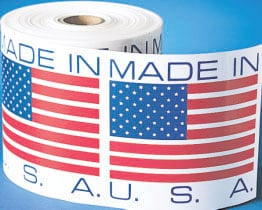 Country of Origin Made In USA Label