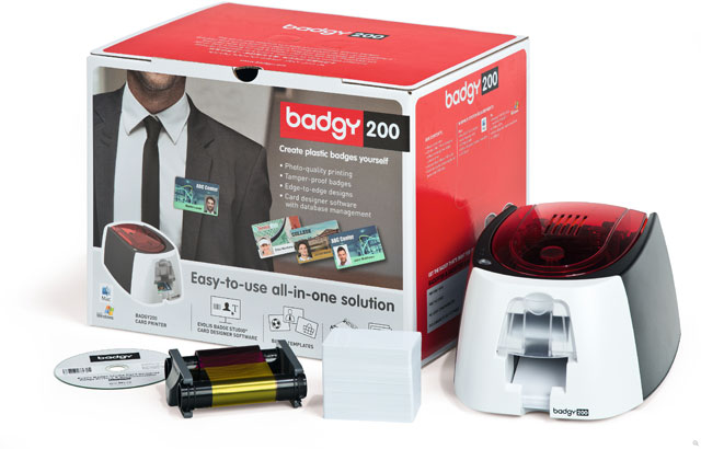 Evolis Badgy200 ID Card Printer System: B22U0000RS