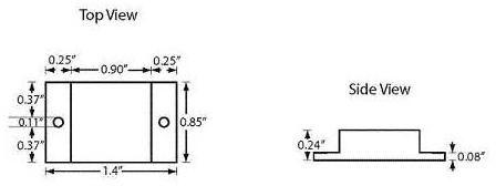 Frick Small Square Hi Temp RFID Tag: WF-SM-75HT
