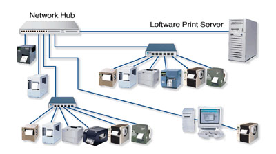 Loftware LPS Print Server 10 Barcode Label Software: 030756NT-ACS