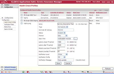 Meru Service Assurance Manager