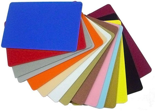 PVC Cards Blank Colored Vinyl Card Plastic ID Card: PVC-CC-ORANGE