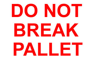 Packing Do Not Break Pallet Label