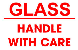 Packing Glass Handle With Care Label