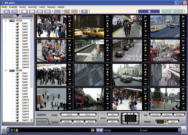 Panasonic wv as65 surveillance camera software best for Security camera placement software