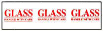 Printed Tape Glass Handle With Care Label