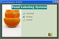 TPGTEX Food Labeling System Barcode Software