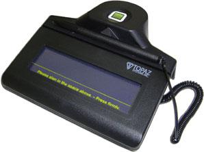 Topaz IDLite 1x5 RF Signature Capture Pad