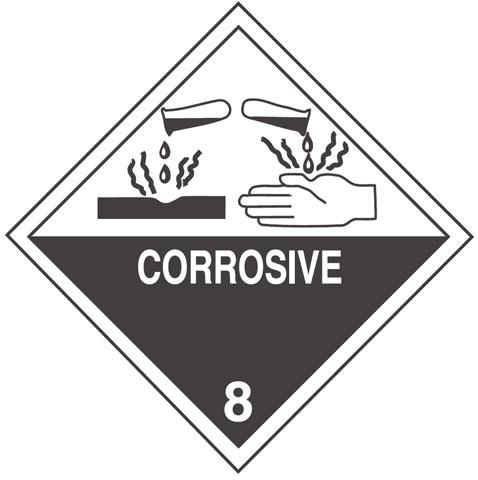 Warning Corrosive Label