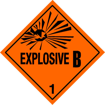 Warning Explosive 1.2B Label