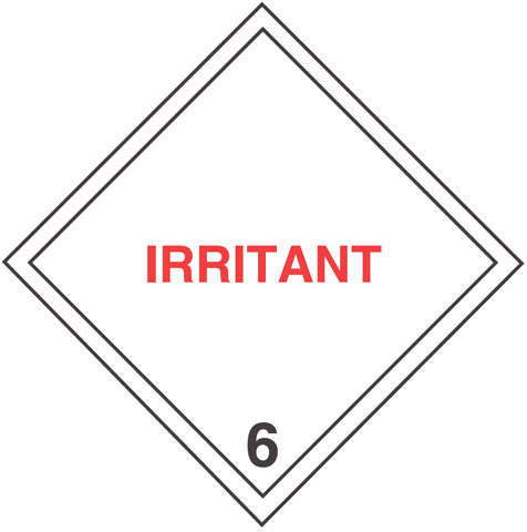 Warning Irritant Label