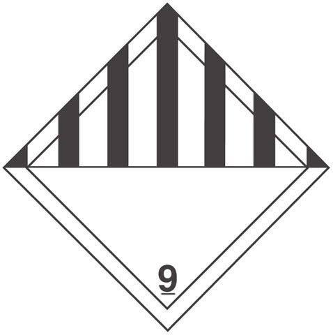 Warning Class 9 Label