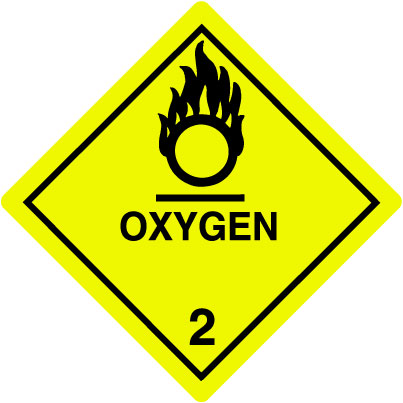 Warning Oxygen Label