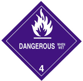 Warning Dangerous When Wet Label