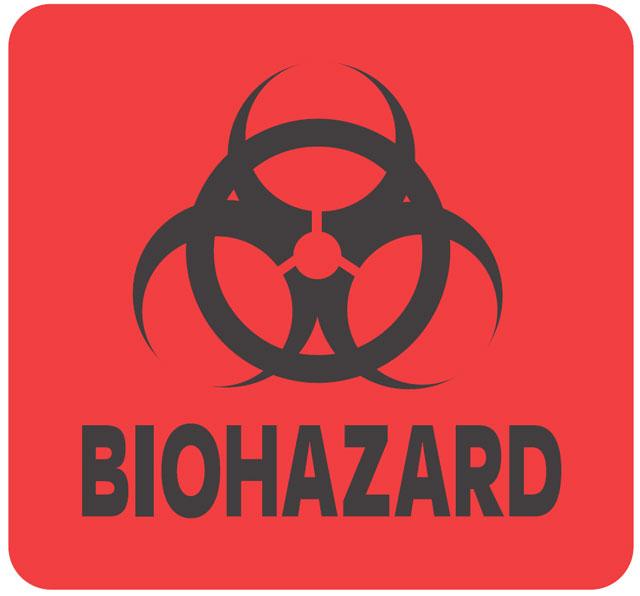 Photo Of Warning Biohazard Label