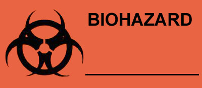 Warning Biohazard Label