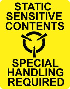 Warning Static Sensitive Label
