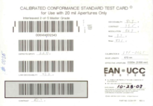 Webscan Calibration Cards Verifier