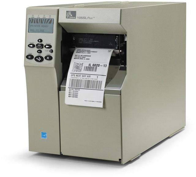 Zebra 105SL Plus Barcode Label Printer: 102-801-00000