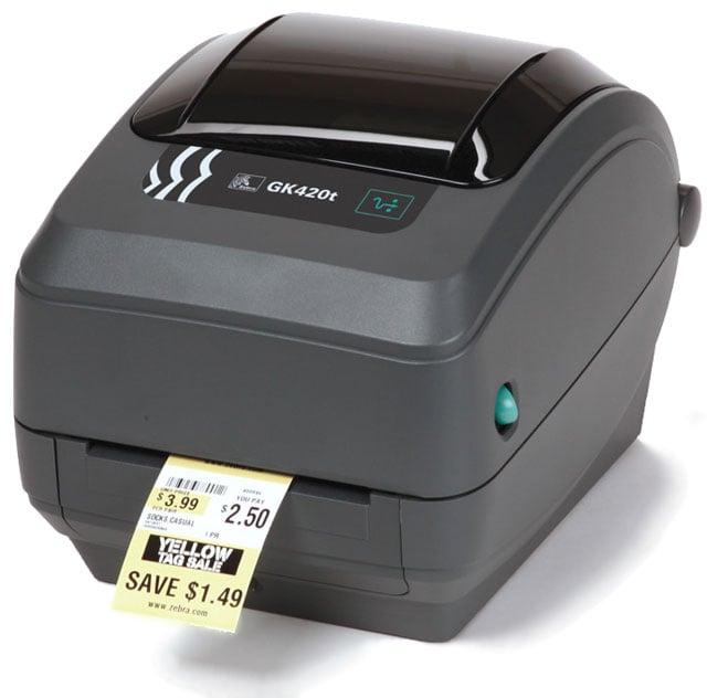 Zebra GK420t Barcode Label Printer: GK42-102210-000